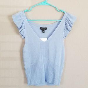 Topshop Tops - Topshop baby blue blouse 🦋